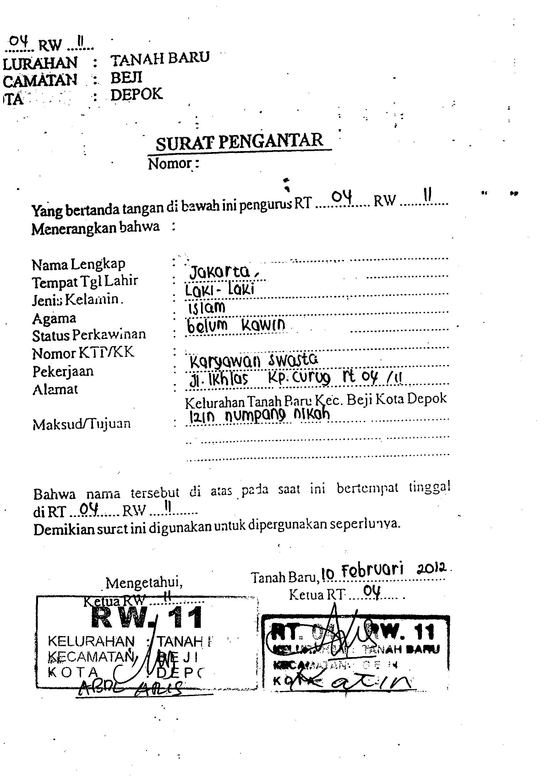 Gambar Surat Keterangan